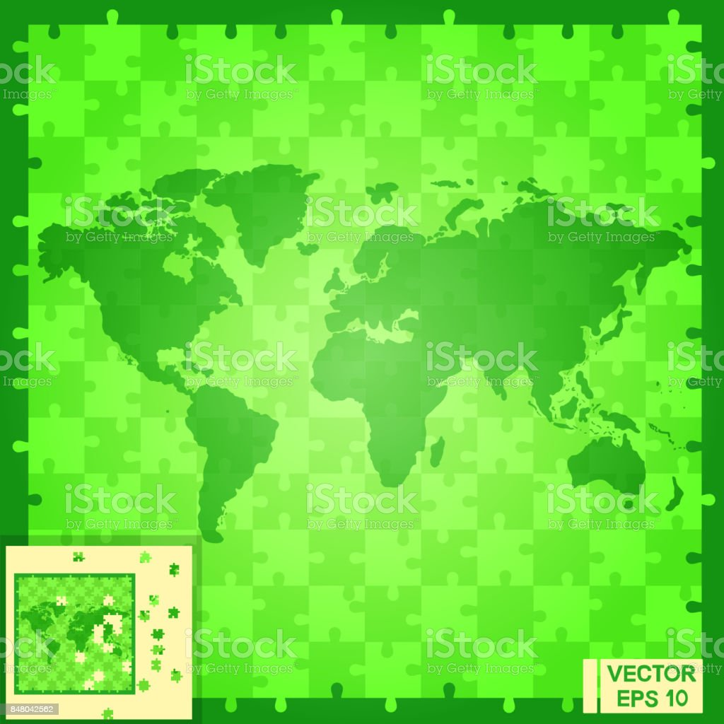 World map puzzle green stock vector art 848042562 istock world map puzzle green royalty free stock vector art gumiabroncs Choice Image