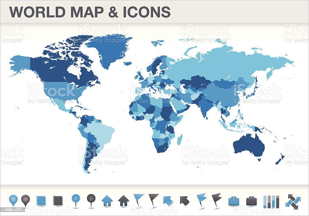 Cartina Mondo Vettoriale Gratis.Mappa Del Mondo Con Le Icone Separati Paesi Immagini Vettoriali Stock E Altre Immagini Di Acqua Istock