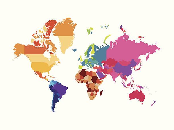 ilustrações de stock, clip art, desenhos animados e ícones de mapa do mundo série - mapa mundi