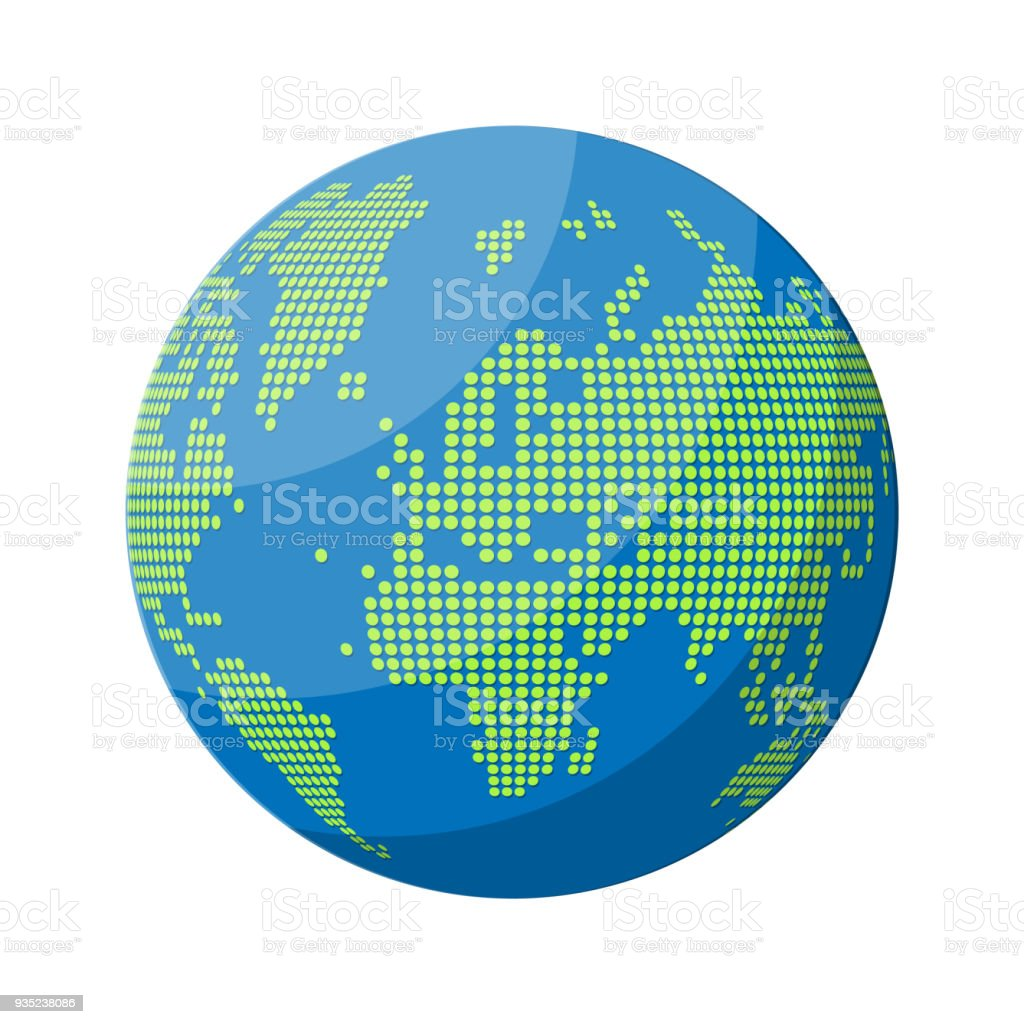 World map silhouette globe in dots stock vector art more images of world map silhouette globe in dots royalty free world map silhouette globe in gumiabroncs Images