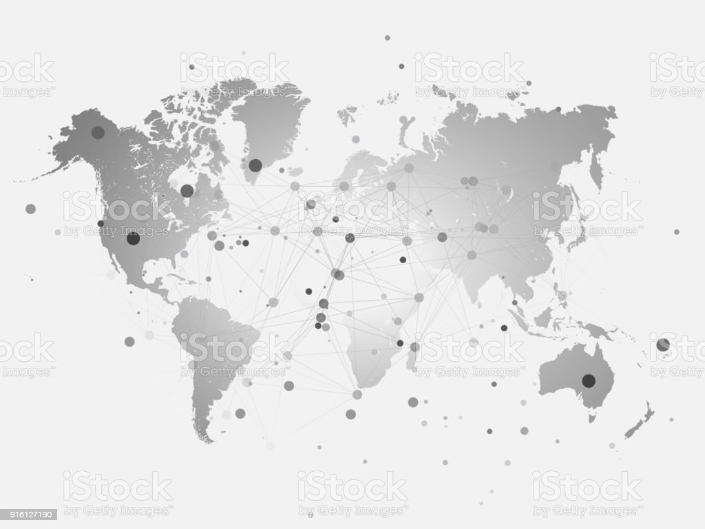 World map silhouette with connection grid vector illustration world map silhouette with connection grid vector illustration background network concept design royalty gumiabroncs Choice Image