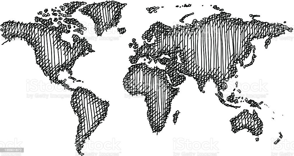 World map sketched stock vector art more images of africa world map sketched royalty free world map sketched stock vector art amp more gumiabroncs Images