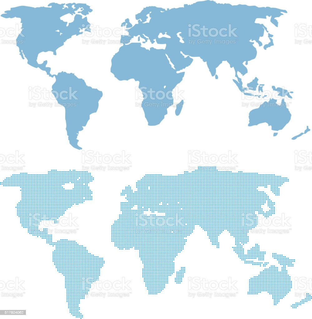 World Map Template In Vector Stock Illustration - Download