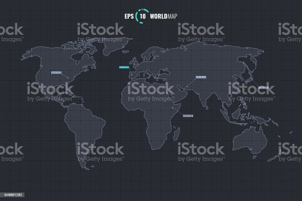world map template stock vector art more images of abstract