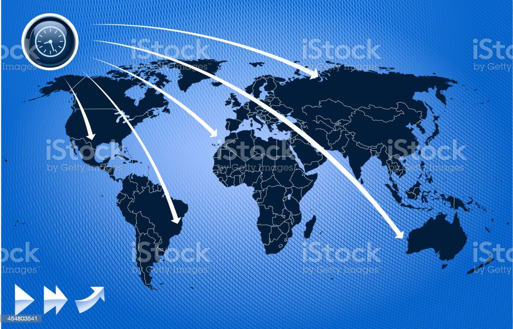 world map time royalty-free stock vector art