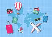 World map travel concept. Vector illustration