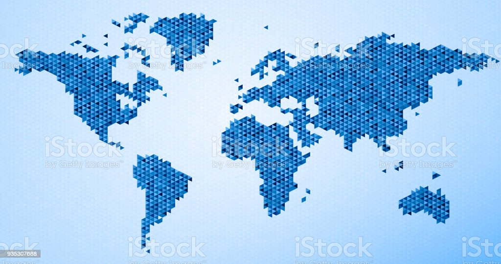 World map triangle pattern blue stock vector art more images of world map triangle pattern blue royalty free world map triangle pattern blue stock vector art gumiabroncs Gallery