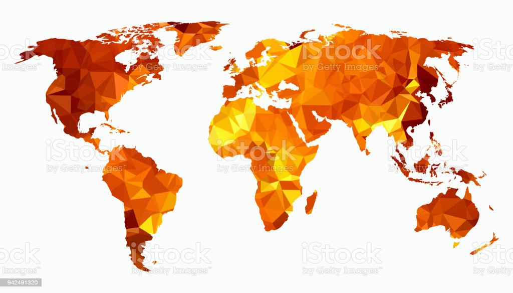 World map triangulated silhouette isolated on white background stock world map triangulated silhouette isolated on white background royalty free world map triangulated silhouette gumiabroncs Gallery