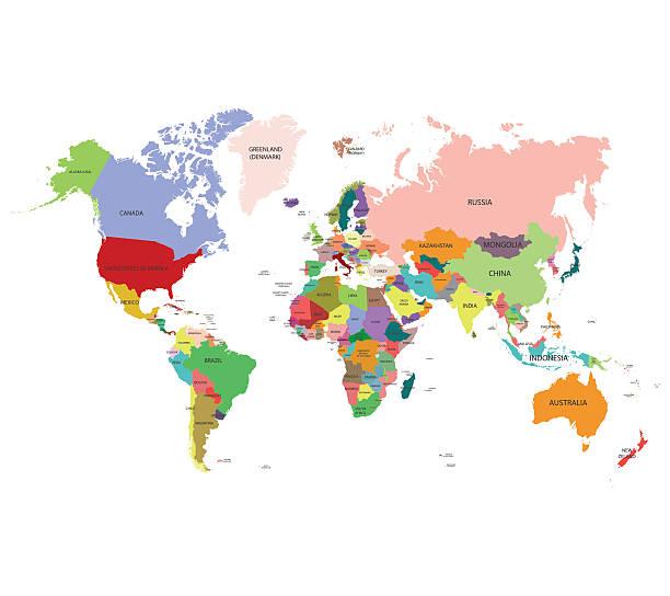 Vectores de paises y illustraciones libre de derechos istock mapa mundial vector de de fondo ilustracin de arte vectorial gumiabroncs Image collections