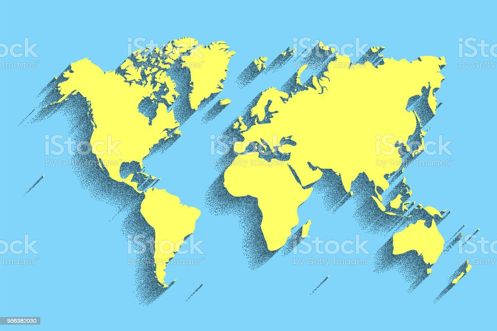 World map vector color background with shadow stock vector art world map vector color background with shadow royalty free world map vector color background gumiabroncs Images