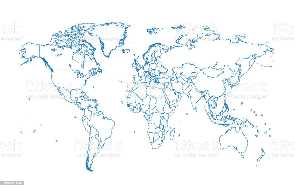World map vector flat design stock vector art more images of world map vector flat design royalty free world map vector flat design stock vector art gumiabroncs Image collections