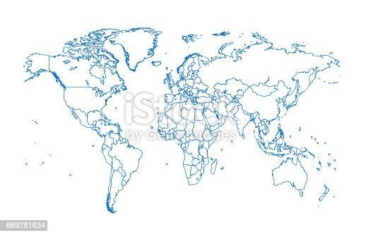 World map vector flat design stock vector art more images of world map vector flat design stock vector art more images of abstract 669281634 istock gumiabroncs Gallery