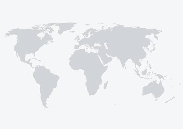 mapa świata - globalny stock illustrations