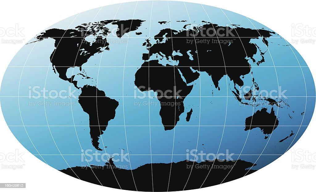 世界マップ ベクターアートイラスト