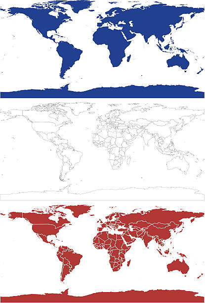 World Map ( Vector ) Detailed world map. Countries fit together and break apart like a puzzle. Each country can be used seperately. svg stock illustrations