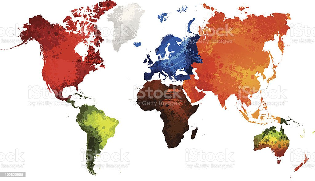 World map stock vector art more images of africa 165806988 istock world map grunge royalty free world map stock vector art amp more gumiabroncs Gallery