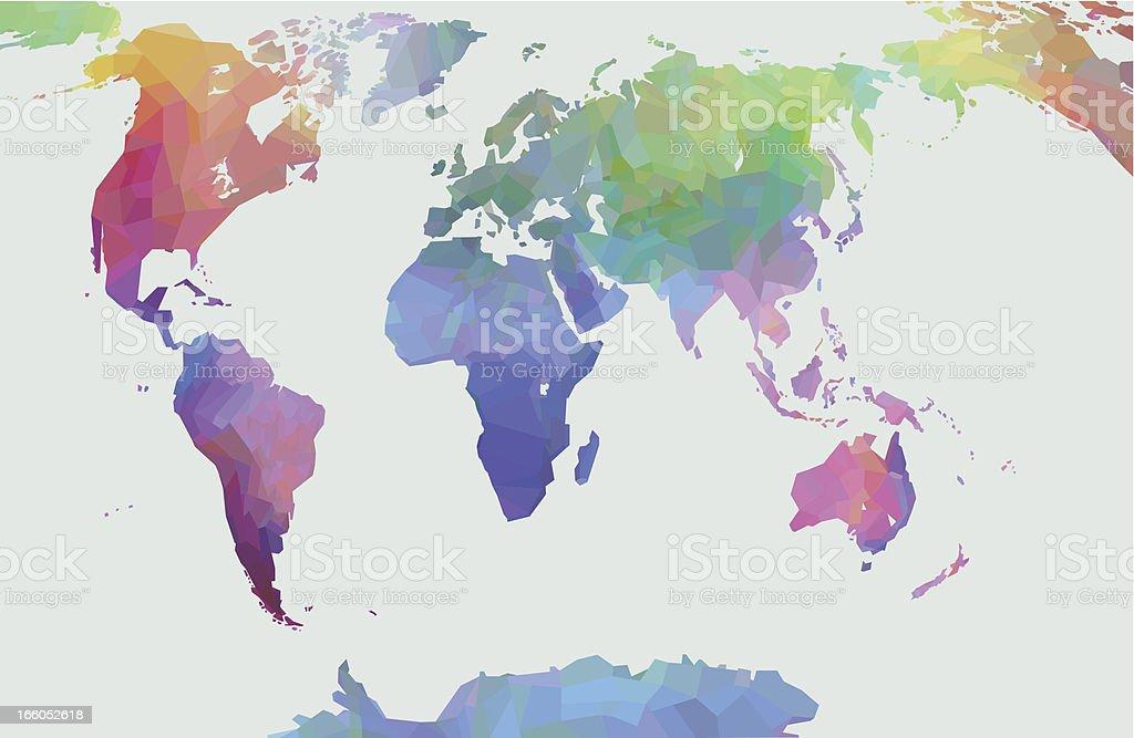 Mapa mundial - ilustración de arte vectorial
