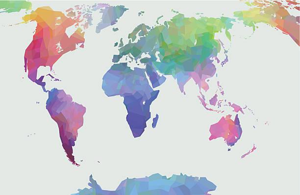 世界マップ - アジア地図点のイラスト素材/クリップアート素材/マンガ素材/アイコン素材