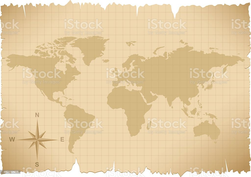 Map Of Asia 1930.World Map Stock Vector Art More Images Of 1930 Istock