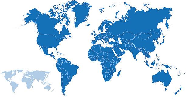 世界マップ - 南極地図点のイラスト素材/クリップアート素材/マンガ素材/アイコン素材
