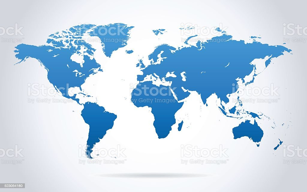 World Map Stock Illustration - Download Image Now - iStock