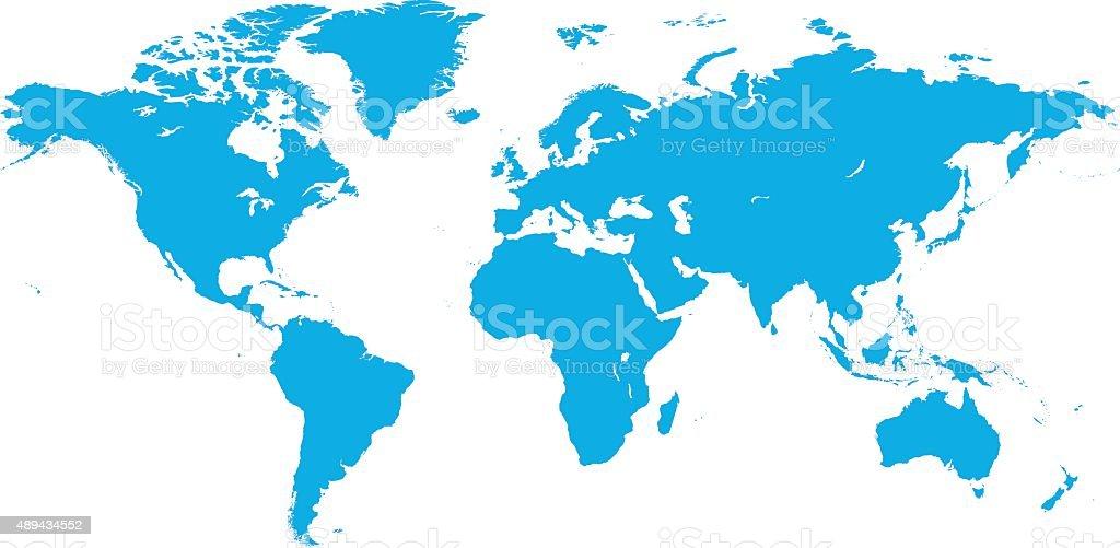 World map vector illustration isolated on white background vector art illustration