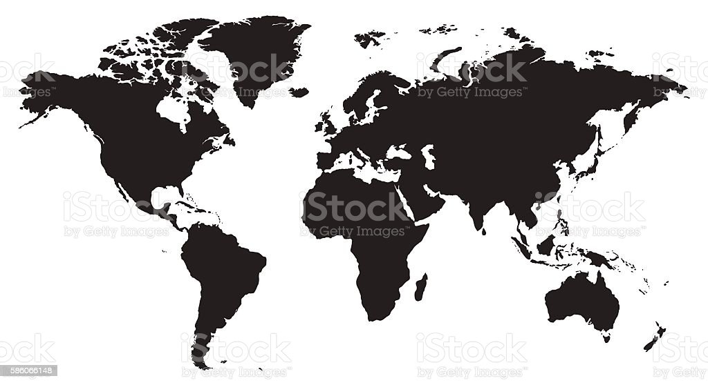 royalty free world map clip art vector images illustrations istock rh istockphoto com world map clipart powerpoint free world map clip art free