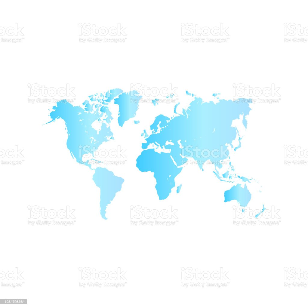 World Map Vector Illustration Stock Vector Art & More Images of ...