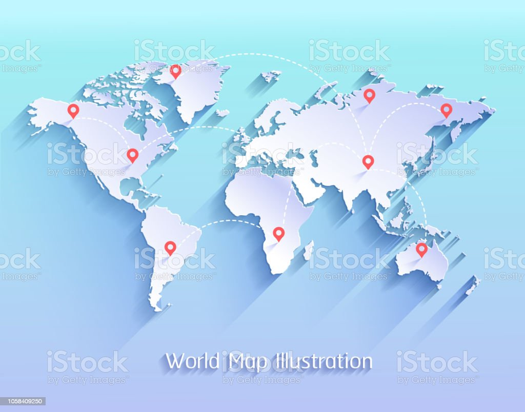 Image of: World Map Vector Illustration Stock Illustration Download Image Now Istock