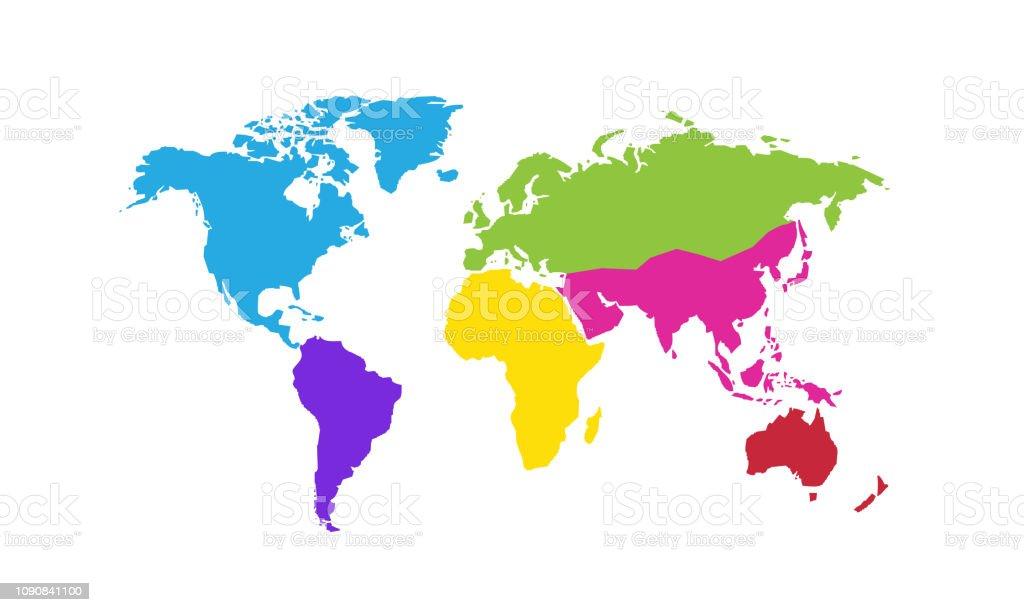 World Map Vector Illustration Stock Illustration - Download Image Now