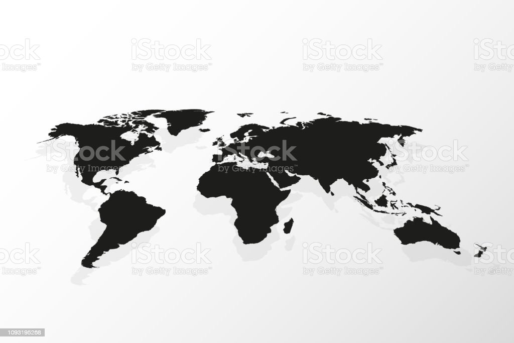 World map vector, isolated on white background. Travel worldwide, map...