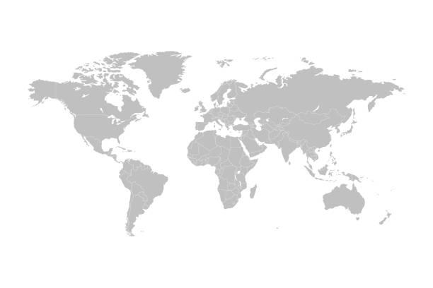 wektor mapy świata - mapa świata stock illustrations