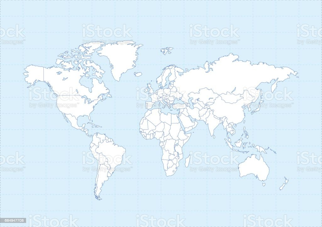 World map white on blue background stock vector art more images of world map white on blue background royalty free world map white on blue background stock gumiabroncs Gallery
