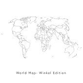 World map Winkel Edition