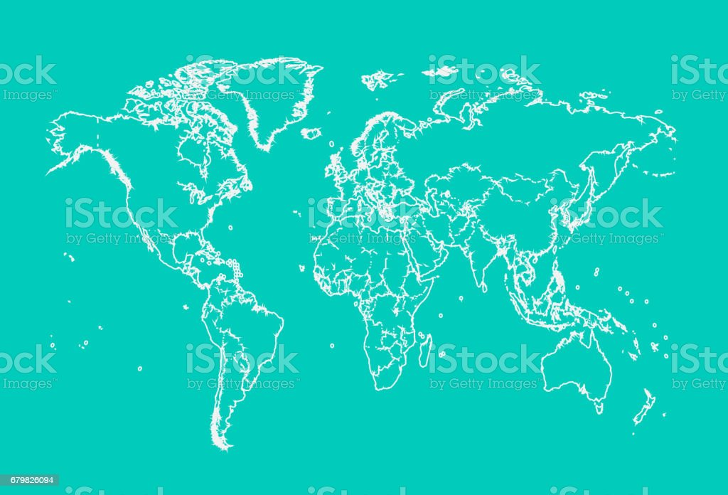 World map with borders neon color outline stock vector art more world map with borders neon color outline royalty free world map with borders neon color gumiabroncs Images