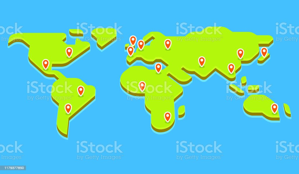 Picture of: World Map With Capital Cities Stock Illustration Download Image Now Istock