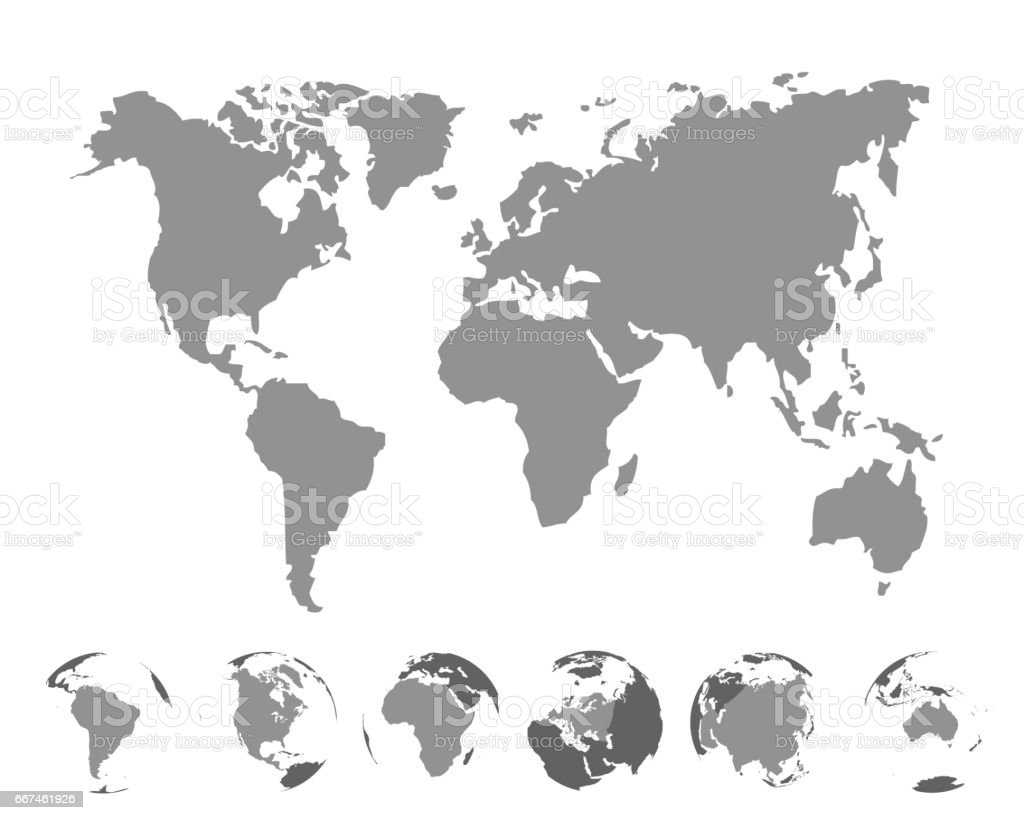 World map with continents on white background vector illustration world map with continents on white background vector illustration royalty free world map with gumiabroncs Gallery