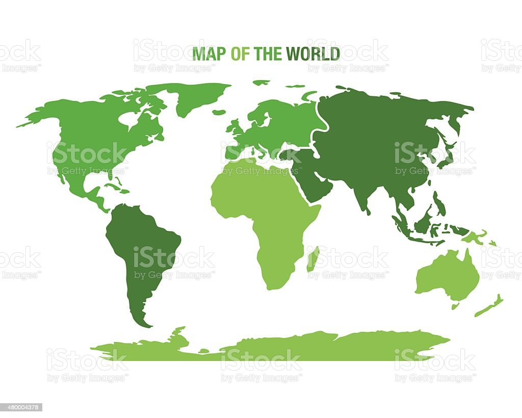 World map with continents stock vector art more images of abstract world map with continents royalty free world map with continents stock vector art amp gumiabroncs Images