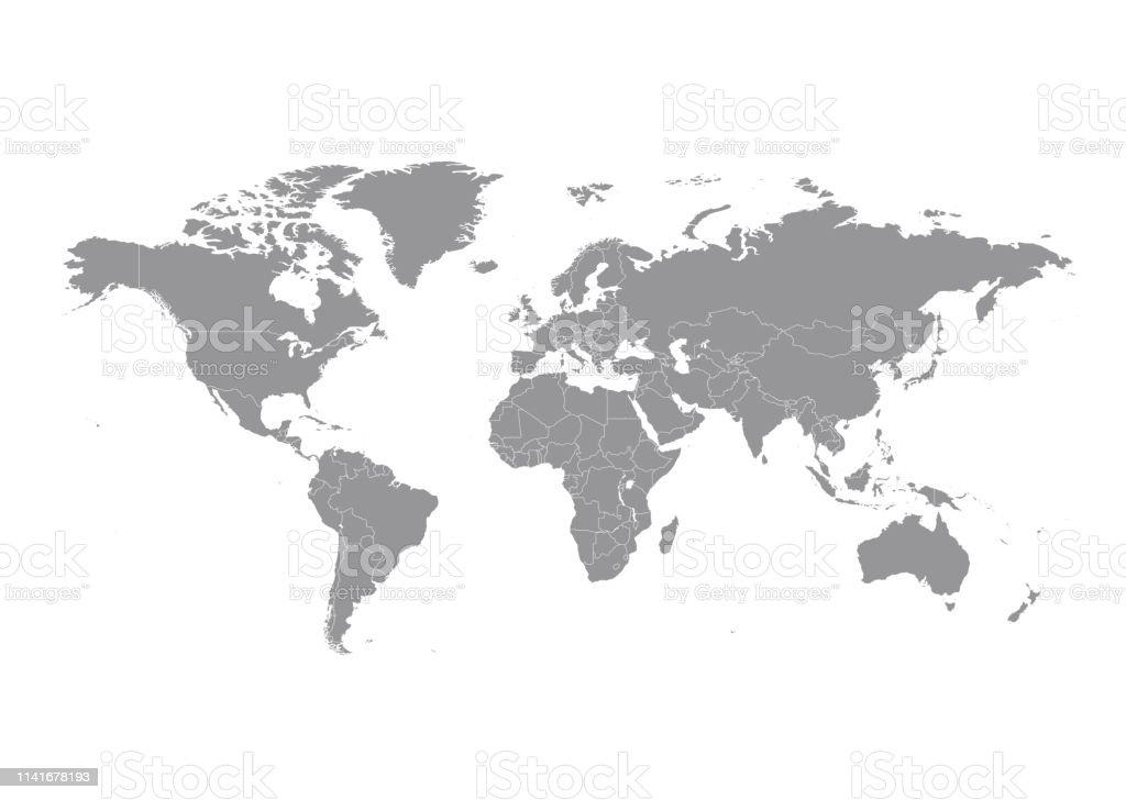 Ülkeler vektör ile Dünya Haritası - Royalty-free Afrika Vector Art