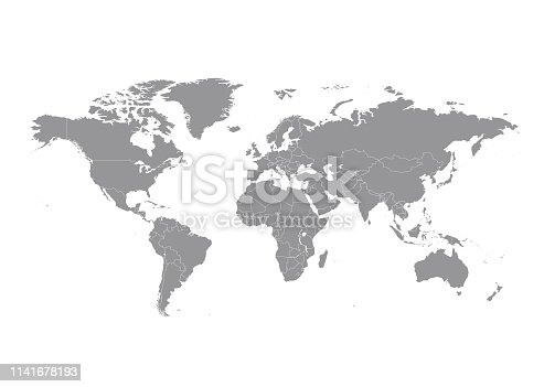 istock World map with countries vector 1141678193