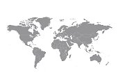 World map with countries vector art