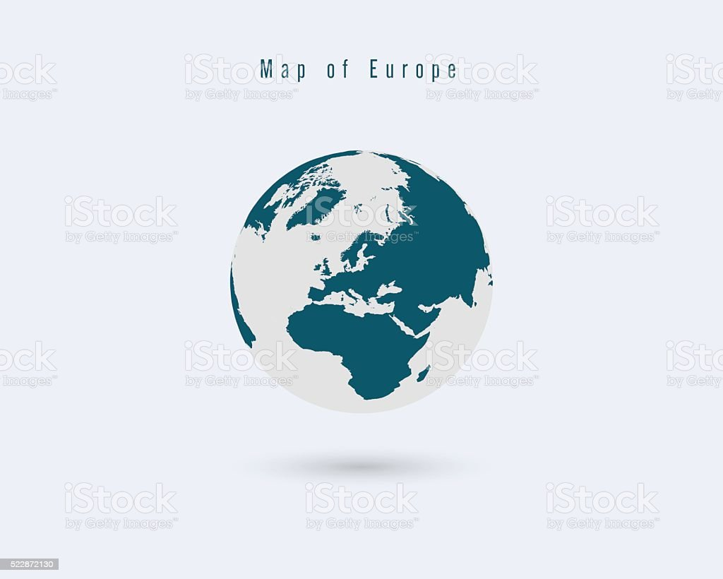 World Map With Different Colored Continents Illustration Stock ...
