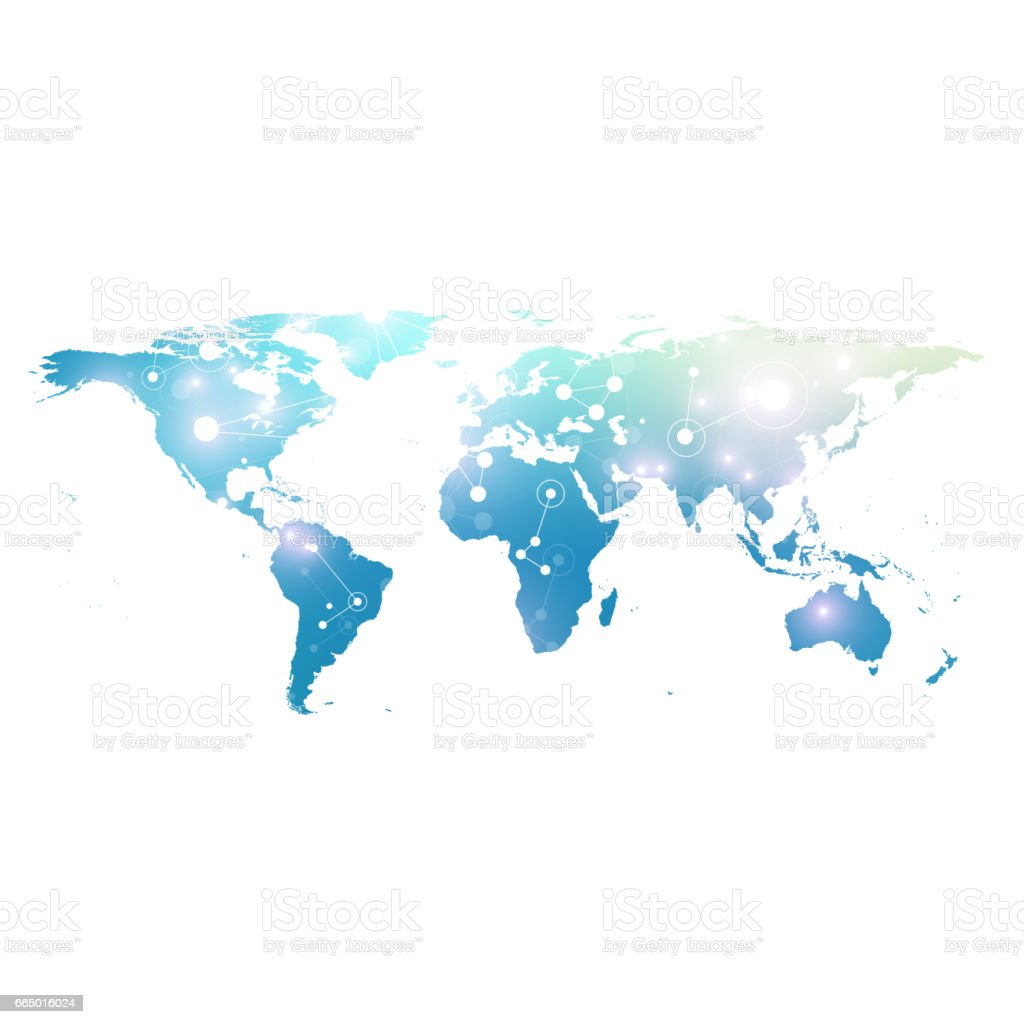 World map with global technology networking concept digital data world map with global technology networking concept digital data visualization lines plexus big gumiabroncs Image collections