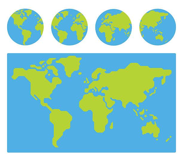 World map cartoon stock photos