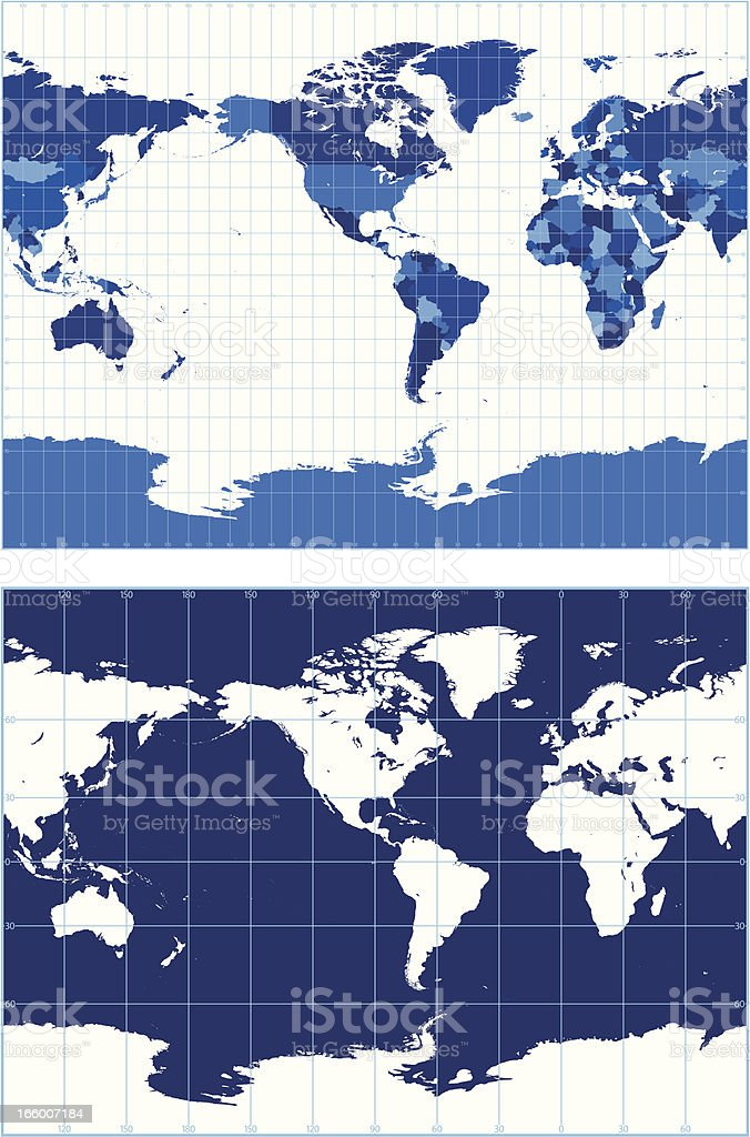 World map with graticules stock vector art 166007184 istock world map with graticules miller projection royalty free stock vector art gumiabroncs Images