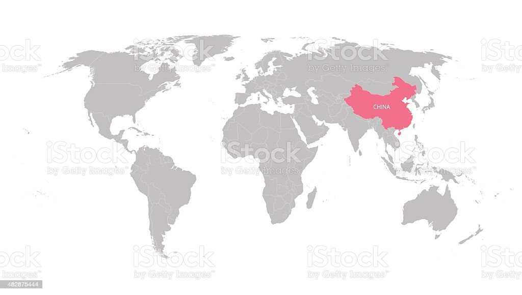 Ilustracin de mapa mundial con indicacin de china y ms banco de mapa mundial con indicacin de china ilustracin de mapa mundial con indicacin de china y ms gumiabroncs Image collections
