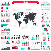 istock World map with infographic elements - Big creative graphic set 955816298