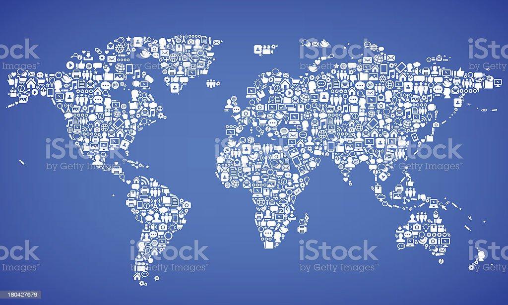 World Map With Internet U0026 Communication Royalty Free Vector Arts Royalty Free  World Map With