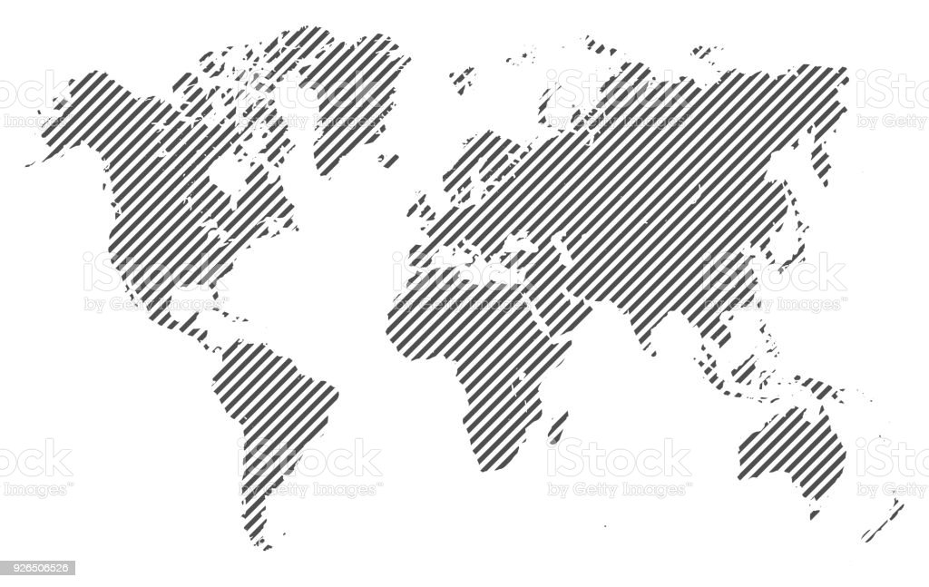 World Map With Lines Stock Vector Stock Vector Art More Images Of