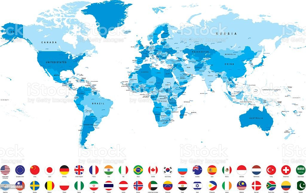 World map with most popular flags against white background world map with most popular flags against white background illustracion libre de derechos libre de derechos gumiabroncs Images